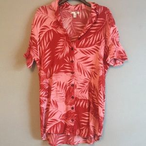 Amuse Society Hawaiian print tunic